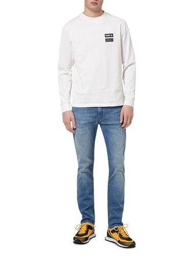 Hugo Boss  Pamuklu Slim Fit Jeans Erkek Kot Pantolon 50449226 455 Mavi